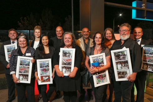 Launch night - artsist and Stockland team